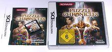 Spiel: PUZZLE CHRONICLES Konami für Nintendo DS + Lite + Dsi + XL + 3DS 2DS