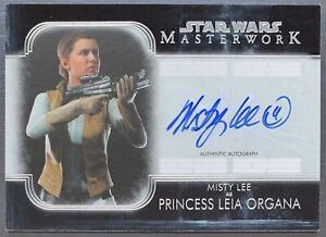 2020 Star Wars Masterwork Misty Lee as Princess Leia Organa On Card Auto