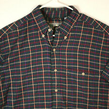 EMS EASTERN MOUNTAIN SPORTS Blue Green Plaid S/S BUTTON SHIRT MEN'S Large