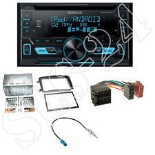 Kenwood DPX3000U CD USB 2DIN Radio+Mercedes C-Klasse W203 Blende+Antennenadapter