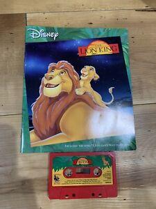 Disney Read Along The Lion King Book Cassette Tape 1994 Tested Audiobook Vintage