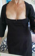 Byron Lars Beauty Mark Black Bodycon Jumper Dress 12 SALE
