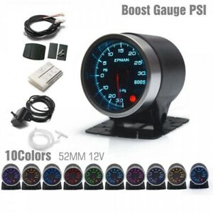 TURBO BOOST GAUGE 52MM WITH POD FOR VAUXHALL ASTRA CORSA ZAFIRA GSI TURBO VXR