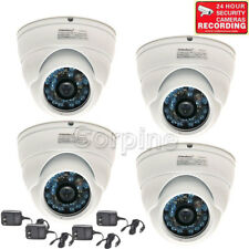 4 Security Camera Wide Angle w/SONY CCD Infrared Night Vision Outdoor 600TVL m6g