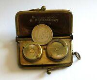 PORTE MONNAIE PORTE LOUIS, pièces en or, cuir et laiton, Bétencourt à Amiens .