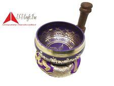 "3.75"" Tibetan Meditation Yoga mantra Singing Bowl Mallet & Cushion made in Nepal"