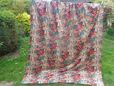 "Gorgeous vintage floral door curtain - 84"" (7ft) 213 cm deep fabric 1987 RARE"