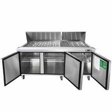 New 3 Door 73 Refrigerated Mega Top Prep Table Cooler Nsf Atosa Msf8308gr 2232