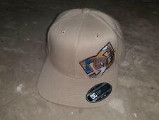 DC Shoes Baseball Cap Hat Flexfit 7-1/4 - 7-5/8 Tan with Plaid Logo/Underbill