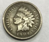 1904  INDIAN HEAD CENT  ****  NICE CIRCULATED COIN - L@@K AT PICTURES!!!!!  #480