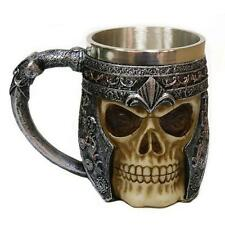 Skull Gothic Ossuary Beer Mug Striking Warrior Tankard Viking Drinking Cup YW &V