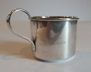 NICE VINTAGE WEBSTER STERLING SILVER PARTIAL GILT BABY CUP dated 1950, 45 grams