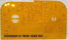Fleischmann Profi Gleisplan Zeichen Schablone 9921 1:10 H0 Schotter System