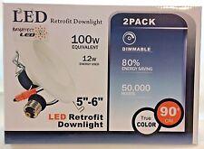 "4 pk BRIGHTEST LED 6"" RETROFIT DOWNLIGHT 12W = 100 WATT 4000K DAYLIGHT UL"