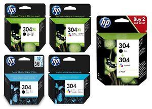 Original HP 304 Druckerpatronen für Deskjet 2620 2621 3720 Envy 5020 5030 5032