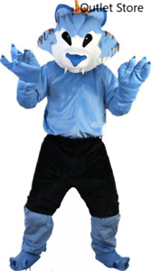 Halloween Cartoon Blue Wolf Mascot Costume Husky Cosplay Party Outfit Fursuit