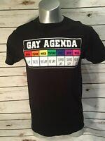 Gay Agenda LGBT Pride Interest Rainbow Days of the Week T Shirt Spencer's
