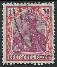 Germania MiNr. 198 mit Bahnpoststempel vom 25.6.22