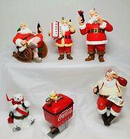 1990s Coca-Cola Ornament Lot of 6 Christmas Holiday Decor Coke Santa Bear EUC!