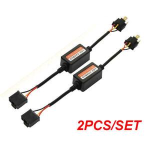 Pair H4 9003 LED Headlight Canbus Load Resistor Decoder Error Free Anti Flicker