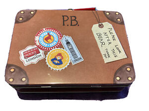 Paddington Bear Suitcase Marks & Spencer Tin 18x13x6 cm with handle Clean ExCond