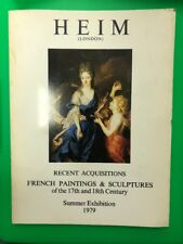 1979 Heim Gallery London French Paintings & Sculptures 17th & 18th century book