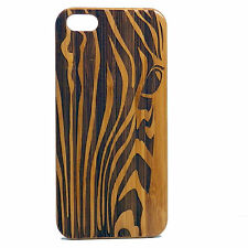 Zebra Case for iPhone 6 6S Bamboo Wood Cover African Animal Print Stripe Pattern