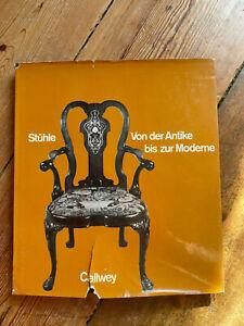 Holm, Edith: Stühle von der Antike bis zur Moderne °Fachbuch Kunst Möbel