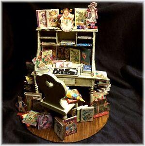 Fimobabsi Miniladen, Puppen Schreibtisch, Dekoration, Handarbeit