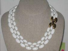 Napier Pat4.774.743 White Enamel Panther Style Choker Collar Necklace VintageNOS