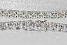 Sterling Silver (925) 17.50ct Sparkling Ladies Tennis Bracelet NEW - 21.5 grams