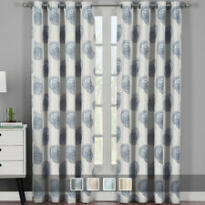 Lafayette Modern Abstract Jacquard Textured Grommet Top Curtain Panels ( Pair)