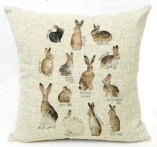 Kissenhülle Kissenbezug Motivkissen Hasen und Kaninchen