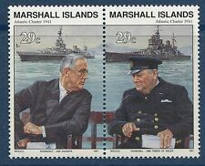 Marshall Islands 1991 World War 2 WW II Scott 283-4 Atlantic Charter FDR W23 NH