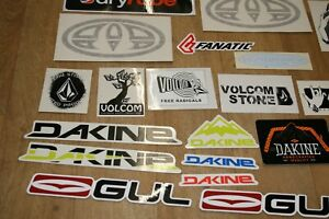 31 X SURFBOARD SURFING SURF CAR BOARD STICKERS YETI GUL DAKINE VOLCOM ANIMAL