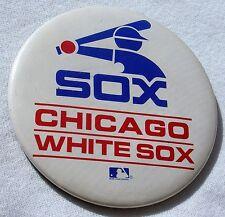 "Vintage MLB Baseball Pin Pinback Button Chicago White Sox 3""+"
