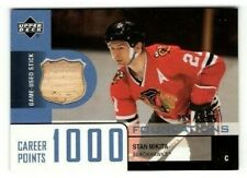 2002-03 UPPER DECK FOUNDATIONS STICK 1000 CAREER POINTS STAN MIKITA /150