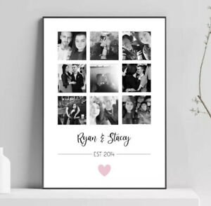 Personalised Valentines Print For Him Her Boyfriend Girlfriend Anniversary Gifts
