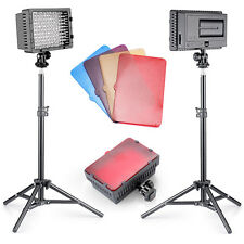 Neewer 2 Pieces CN-160 LED Video Light Lighting Kit for Canon, Nikon, Sony DSLR