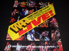 War Live Their First Live Album on United Artists original 1974 Promo Poster Ad