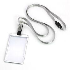 Aluminum Alloy Business Work Card Case ID Badge Cover  Magic Lanyard Holders *Gl