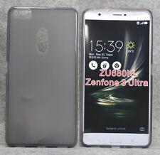 For Asus Zenfone 3 Ultra ZU680KL Smoke Gray TPU matte Gel skin case cover