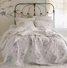 Simply Shabby Chic KING Quilt WHITE SHADOW ROSE French Cottage - Rachel Ashwell