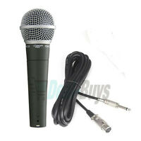 Pyle PDMIC58 Professional Moving Coil Dynamic Handheld Microphone + 15' Cable