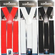 Men's Braces Wide Adjustable Elastic Suspenders Y Shape Strong Clips Heavy Duty