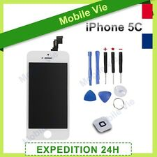 ECRAN VITRE TACTILE+LCD RETINA ORIGINAL SUR CHASSIS POUR IPHONE 5C BLANC+OUTILS