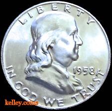 1958-D 50C Franklin Silver Half Dollar BU