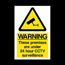 CCTV 24 Hour Surveillance A5 Rigid Plastic Sign 150x210mm