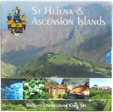 St Helena and Ascension Islands Coins Full Set UNC