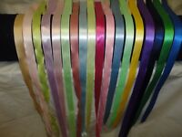 Assorted colors of 7/8 Satin Ribbon 18 yards